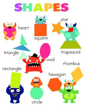 Heart-shaped clipart 2d shapes 2D basic Gives poster poster