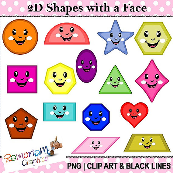 Octigons clipart cartoon Shape Clipart Shapes shapes heart