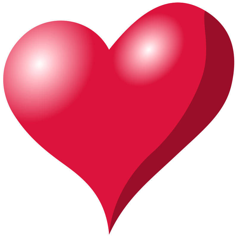 Heart-shaped clipart abstract heart #1