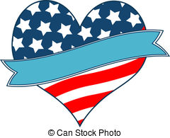 Heart-shaped clipart american flag Vector Art of Clip american