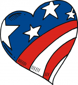 Heart-shaped clipart american flag American Free Clipart Flag cps
