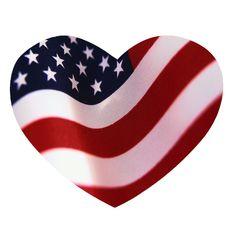 Heart-shaped clipart american flag Clip heart America I Shaped
