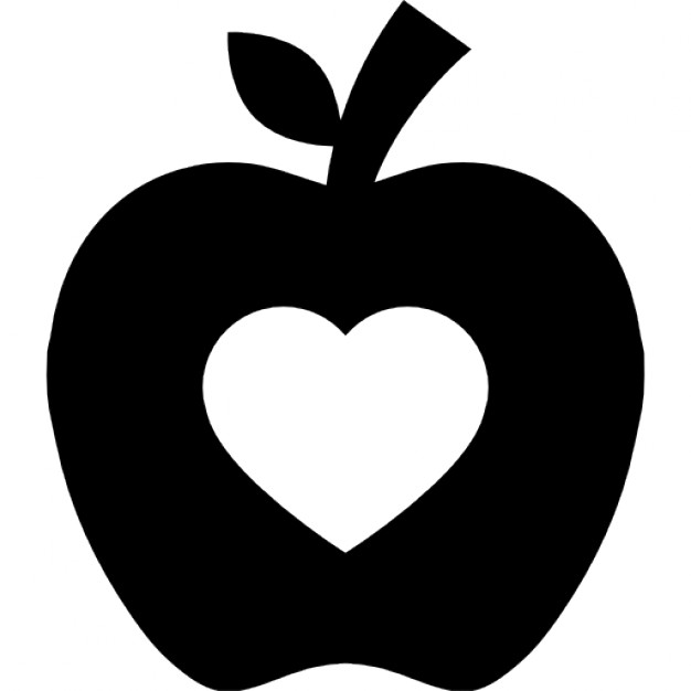 Heart-shaped clipart apple Silhouette silhouette heart Download Vectors