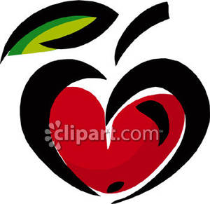 Heart-shaped clipart apple Picture Shaped Royalty Shaped Free