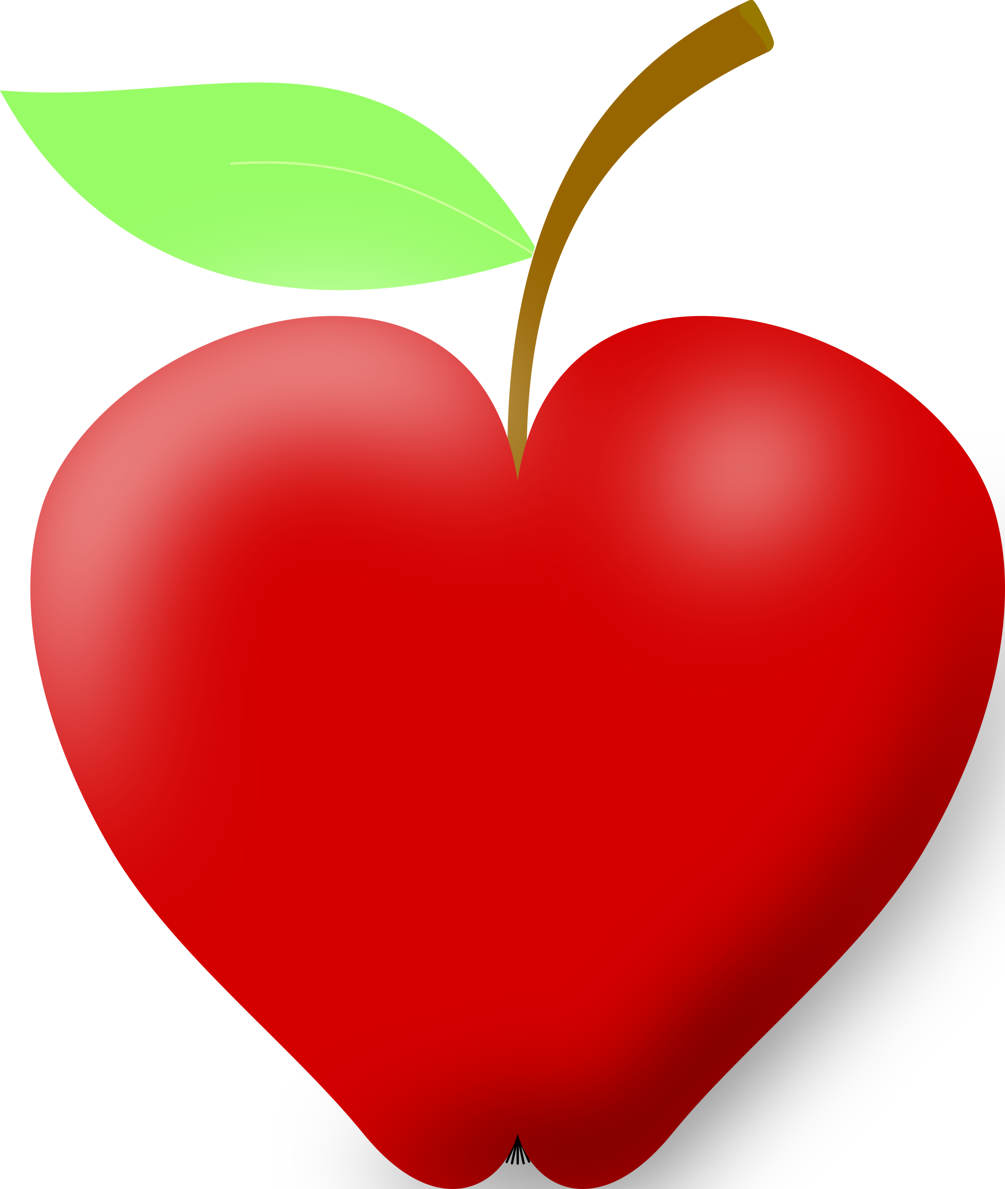 Heart-shaped clipart apple Clipart Apple Apple