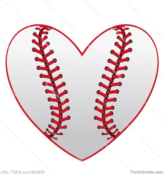 Infinity clipart black and white Heart clipart softball Vector Photo