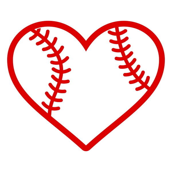 Heart-shaped clipart baseball Baseball Svg Heart Heart Design