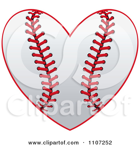 Heart-shaped clipart baseball 13 Baseball clipart shape best