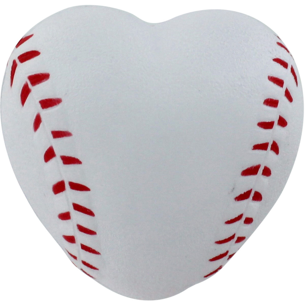 Heart-shaped clipart baseball Promotional Relievers $0  Stress