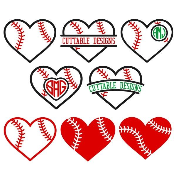 Infinity clipart unique Softball Hearts Stock Cuttables Image