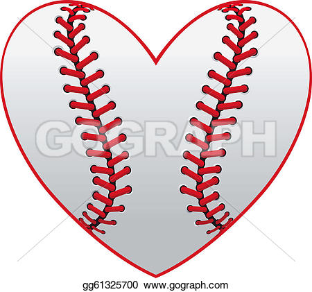Heart-shaped clipart baseball Vector heart emblem gg61325700 Baseball