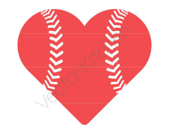 Heart-shaped clipart baseball Heart Run DIY Half Home