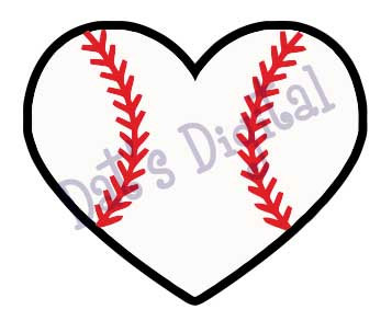 Heart-shaped clipart baseball Baseball Free Heart #21818 laces