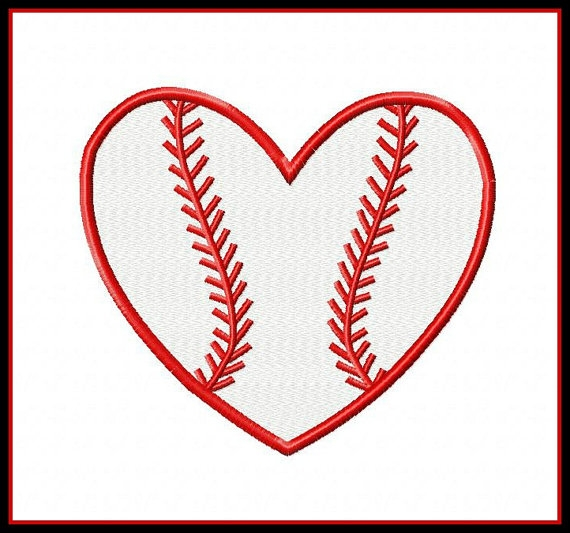 Heart-shaped clipart baseball Red Heart clipartsgram Clipartsgram clipart