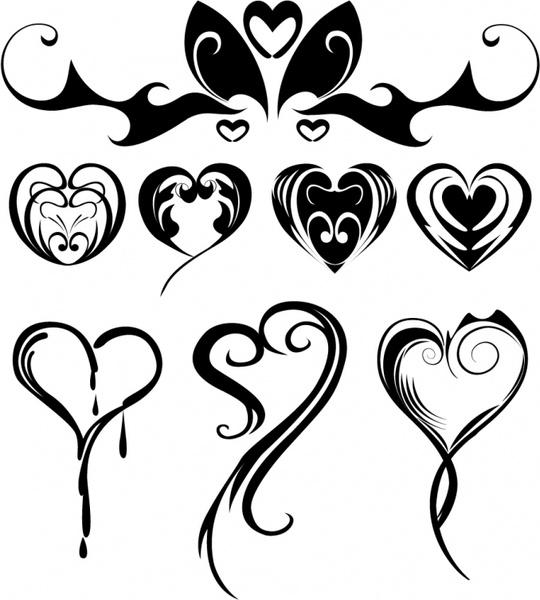 Heart-shaped clipart basic shape #7