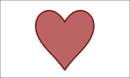 Heart-shaped clipart basic shape #1