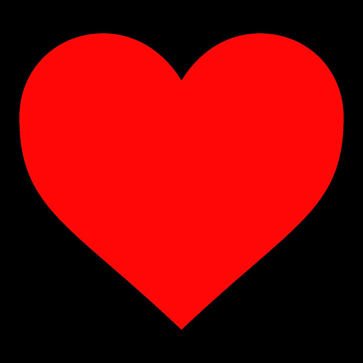 Heart-shaped clipart basic shape #3