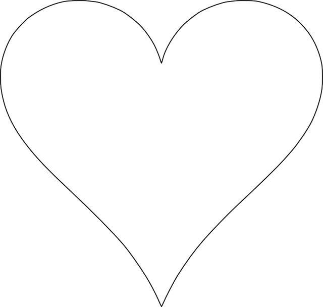 Heart-shaped clipart basic shape #2