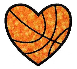 Heart-shaped clipart basketball Applique GG Heart enlarge Embroidery