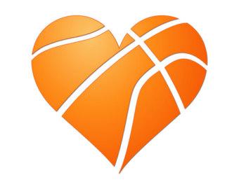 Heart-shaped clipart basketball Basketball svg monogram svg basketball