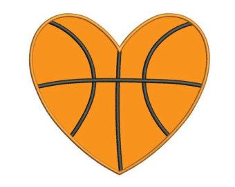 Heart-shaped clipart basketball Instant Download Design Applique Basketball