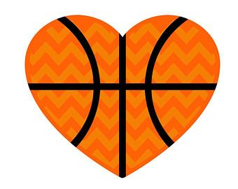 Heart-shaped clipart basketball Shaped Tiger > Heart Clipart
