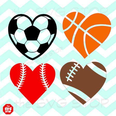 Sport clipart heart Balls shaped different heart 4
