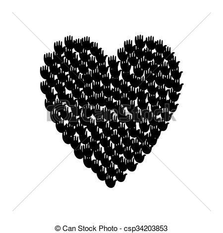 Heart-shaped clipart big Of shape Illustration with heart