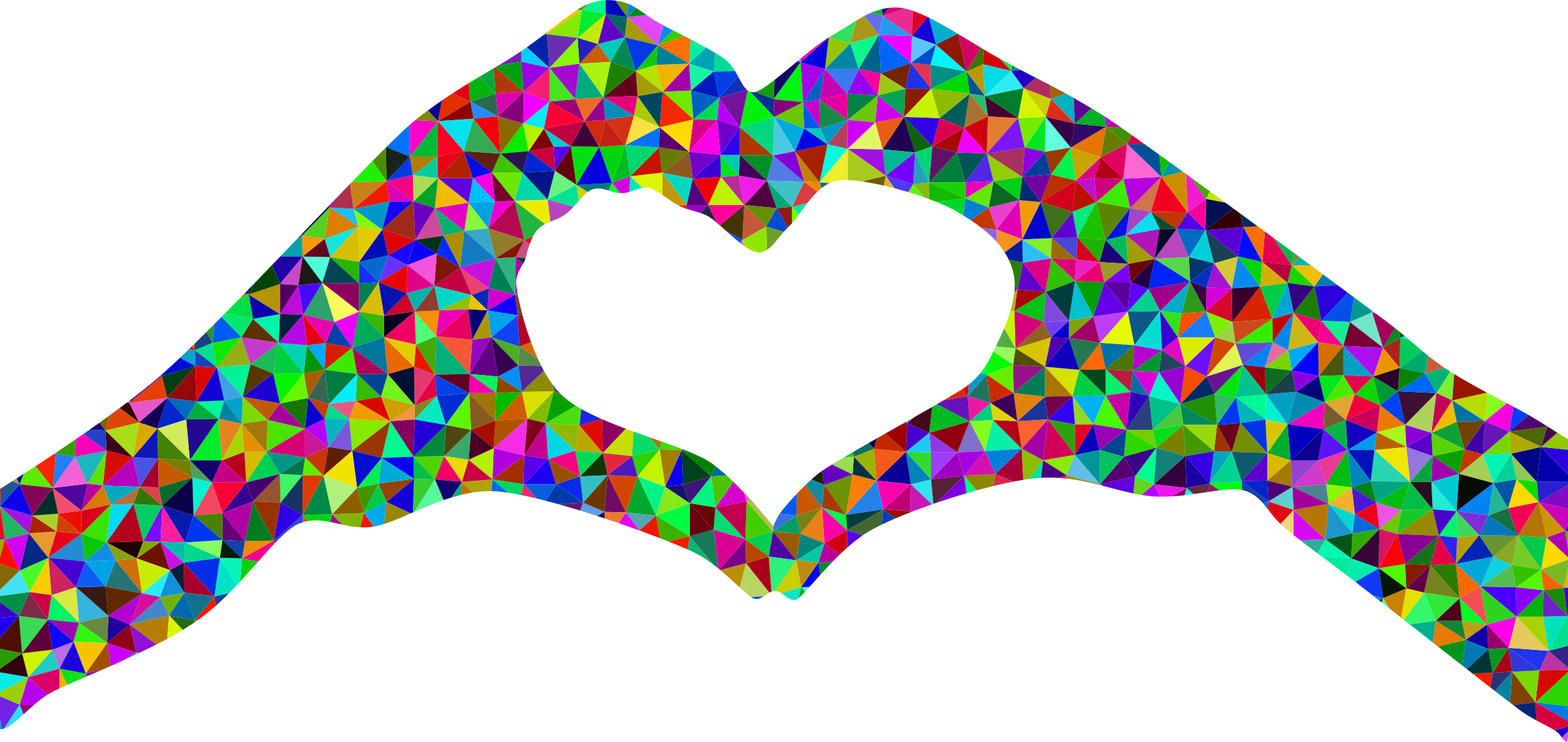 Heart-shaped clipart big IMAGE Low Clipart Poly Heart