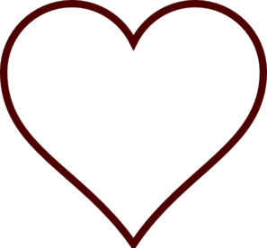 Heart-shaped clipart big Black black Clipart white and
