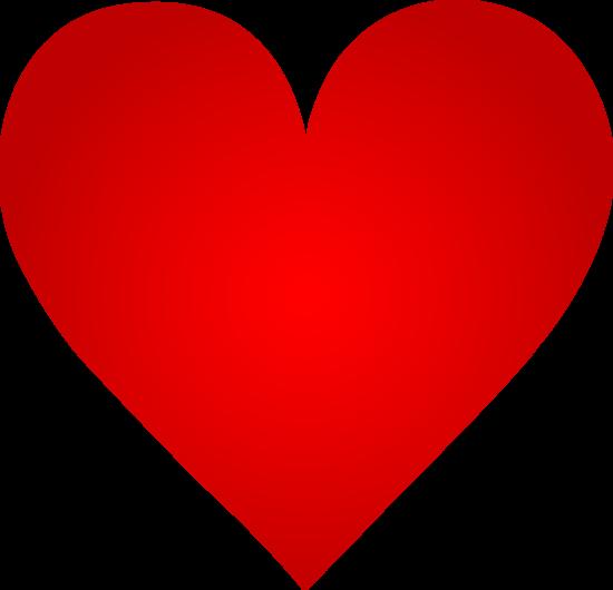 Heart-shaped clipart big Red Red Heart Heart Art
