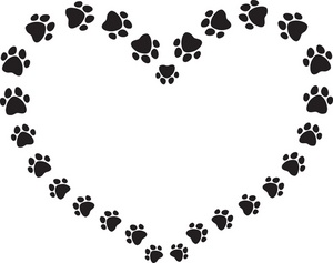 Paw clipart puppy Puppy heart for prints in
