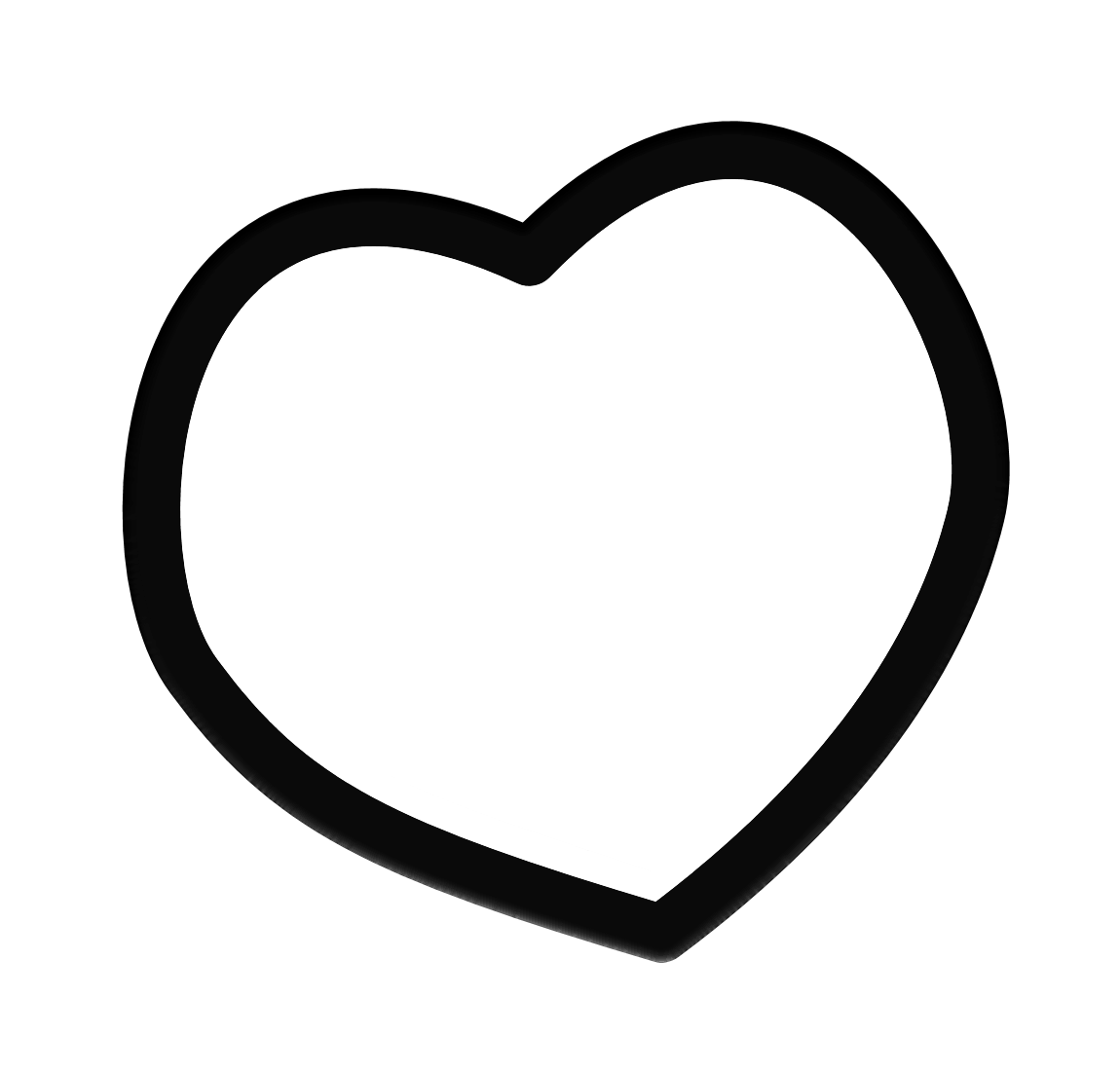 Heart-shaped clipart black and white Panda Black And Frame Clipart