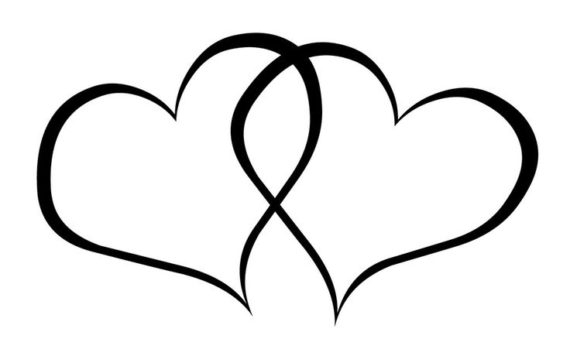 Heart-shaped clipart black and white Heart And And White Heart