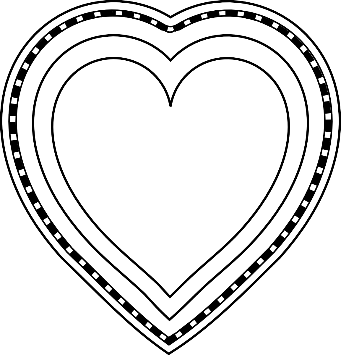 Heart-shaped clipart black and white Free library Heart To Pictures