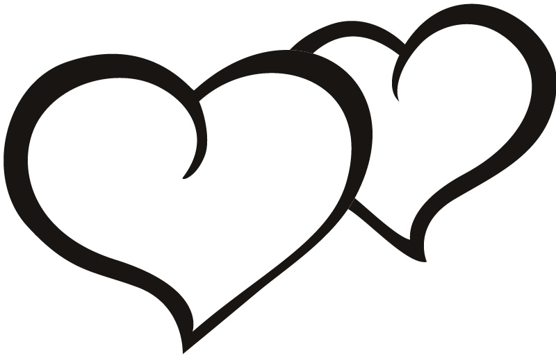 Heart-shaped clipart black and white Black Heart 6353 Clipart Clipart