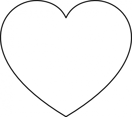 Heart-shaped clipart black and white White white clipart hearts and