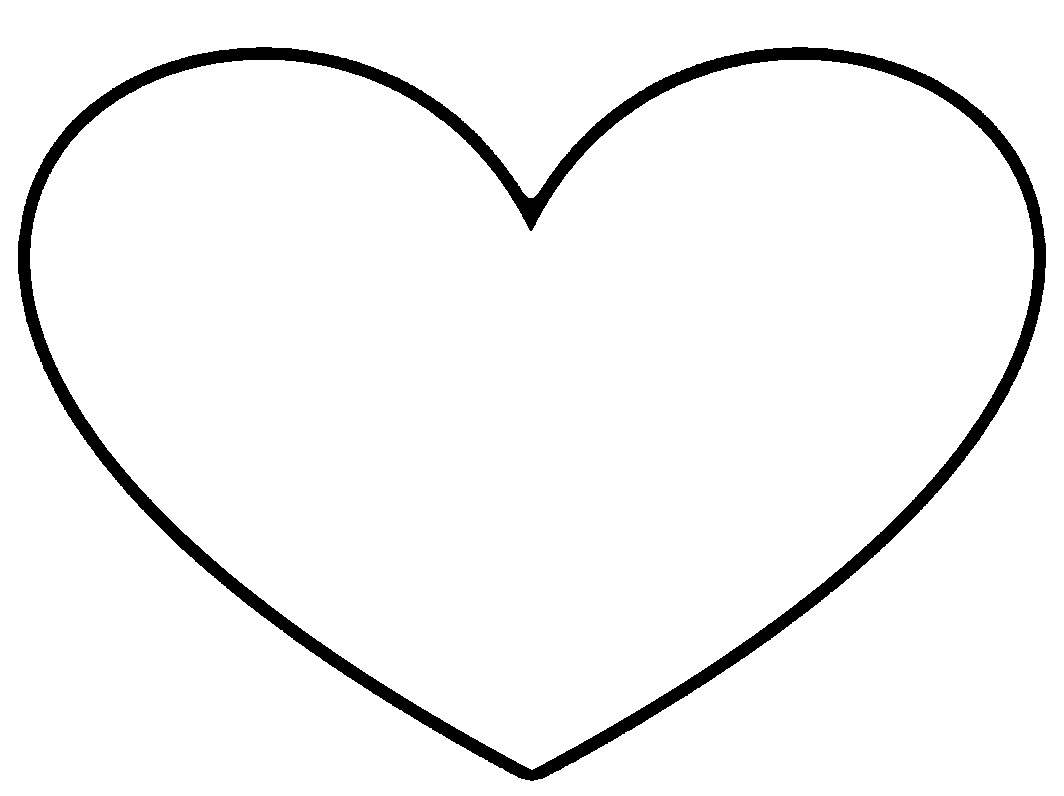 Heart-shaped clipart black and white Free And White Clip Panda