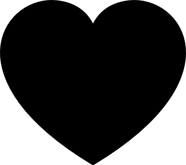 Heart-shaped clipart black and white Clker Heart Clip image at