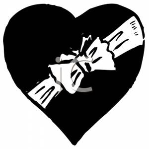 Heart-shaped clipart black and white Clipart Clipart Shaped Box and