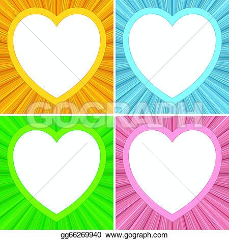 Heart-shaped clipart blank High shaped Stock on Set