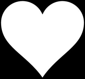 Heart-shaped clipart blank Blank Outline Black White