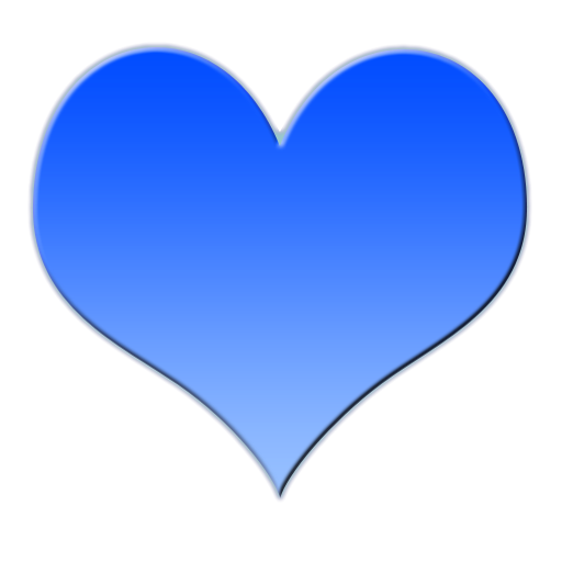 Heart-shaped clipart blue Free  Love Heart Clip