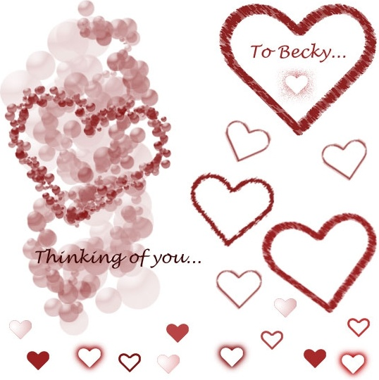 Heart-shaped clipart brushed #3