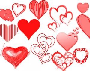Heart-shaped clipart brushed Volume Photoshop Photoshop Brushes brush