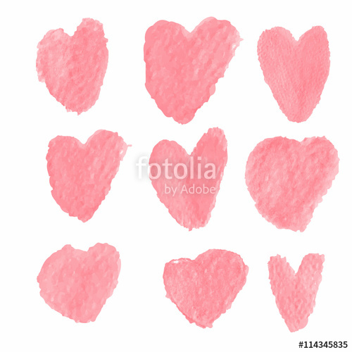 Heart-shaped clipart brushed #8