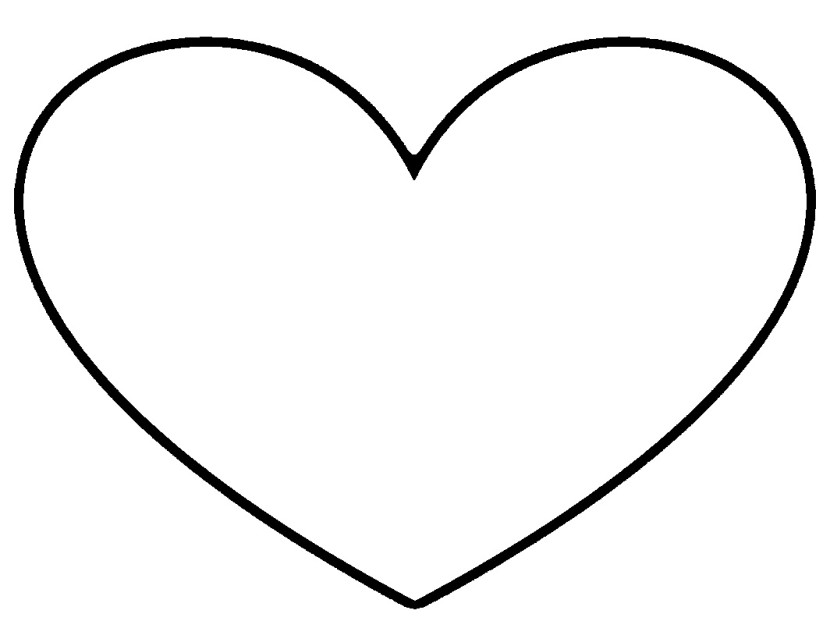 Heart-shaped clipart cartoon heart Black White  And Clipart