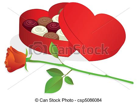 Heart-shaped clipart chocolate box Of Heart Vector  box