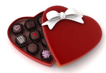 Heart-shaped clipart chocolate box #5