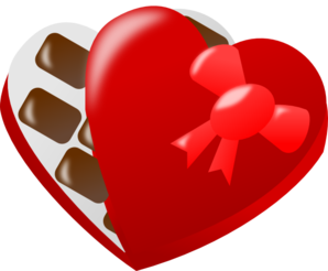 Heart-shaped clipart chocolate box #2